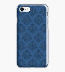 Tardis Damask - Blue iPhone Case/Skin
