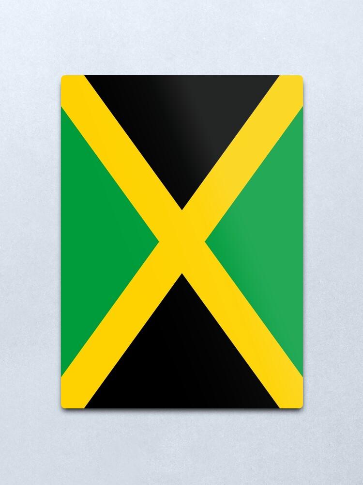 Alternate view of Jamaica Flag Metal Print