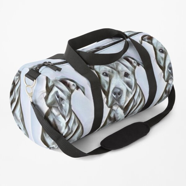 Pit Bull dog lover, a beautiful design of a Blue Nose PitBull of this gentle loyal breed Duffle Bag