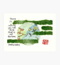 Basho's Moon Art Print
