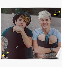 Kian and Jc Black Hearts Poster