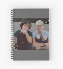 Cuaderno de espiral Kian y Jc Black Hearts