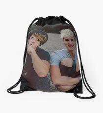 Kian and Jc Black Hearts Drawstring Bag