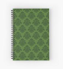 Tardis Damask - Green Spiral Notebook