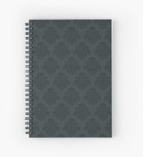 Tardis Damask - Grey Spiral Notebook