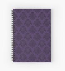 Tardis Damask - Purple Spiral Notebook