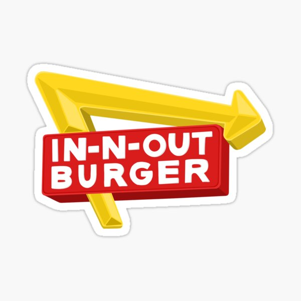 In N Out Burger Sign Sticker