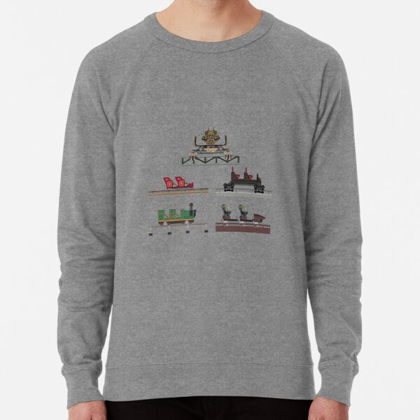 Silver Dollar City Coaster Cars Design Lightweight Sweatshirt
