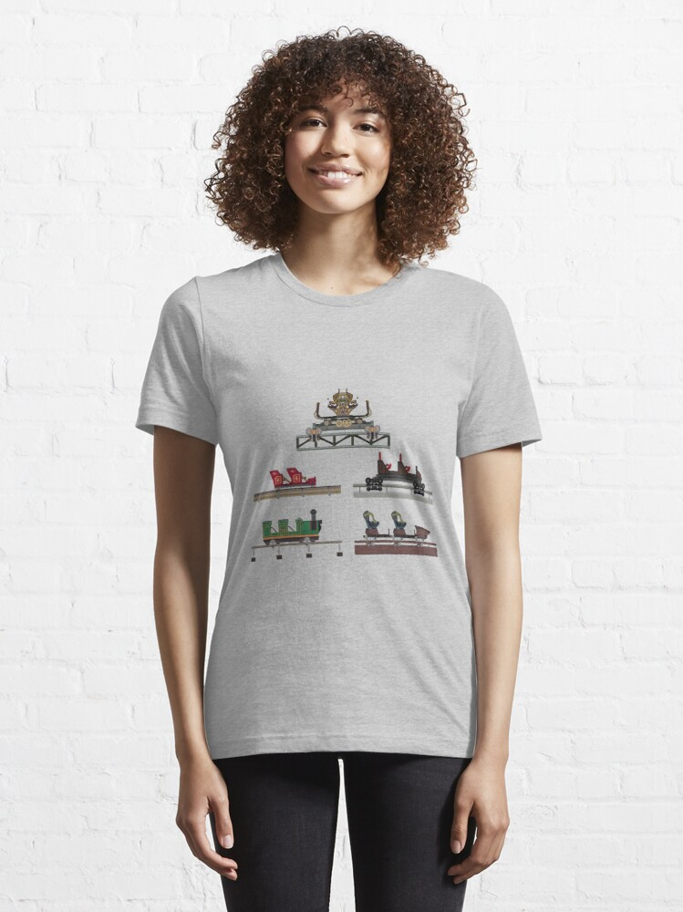 Alternate view of Silver Dollar City Coaster Cars Design Essential T-Shirt