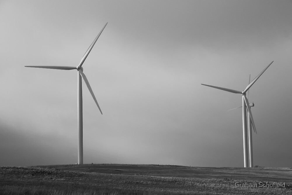 Wind Turbines, New South Wales, 2013 by Graham Schofield