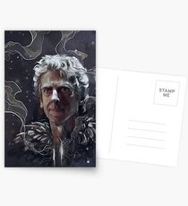 Twelfth Doctor–feathers and snow Postcards
