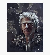 Twelfth Doctor–feathers and snow Photographic Print