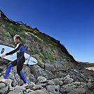 Surfer at Winkipop by Darren Stones