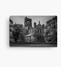 Kirkstall Abbey (B&W) Canvas Print