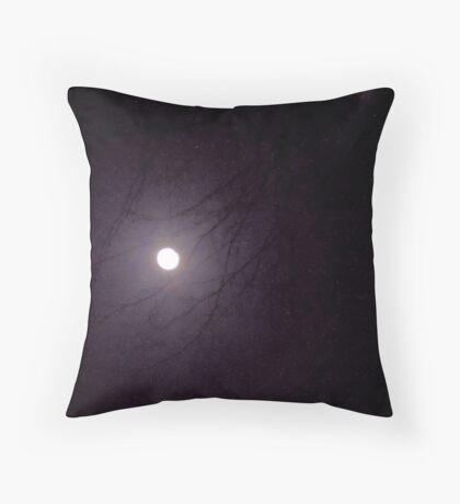 Moonlight through the Trees Throw Pillow