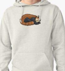 Red Panda sleeping Pullover Hoodie