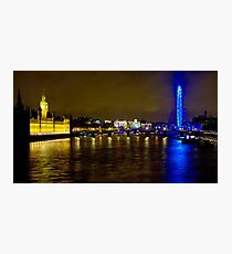 The London Skyline New Years Eve 2012 - HDR Photographic Print