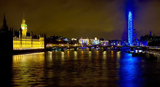 The London Skyline New Years Eve 2012 - HDR by Colin  Williams Photography