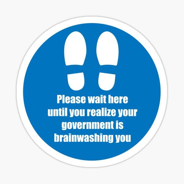 Social Distancing - Please wait here Sticker