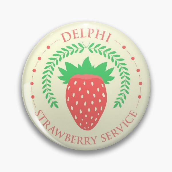 Camp Half Blood Delphi Strawberry Service (color) Pin