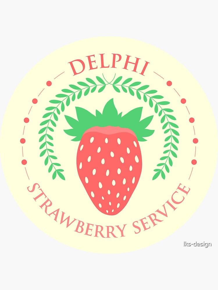 Camp Half Blood Delphi Strawberry Service (color) by lks-design