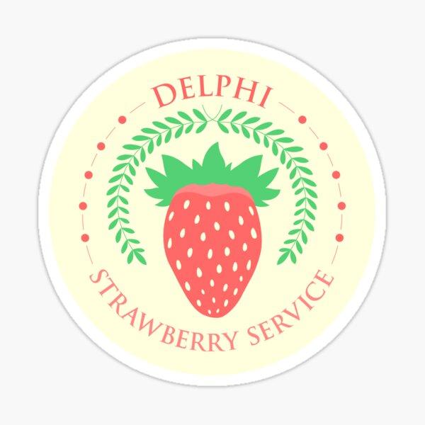 Camp Half Blood Delphi Strawberry Service (color) Sticker