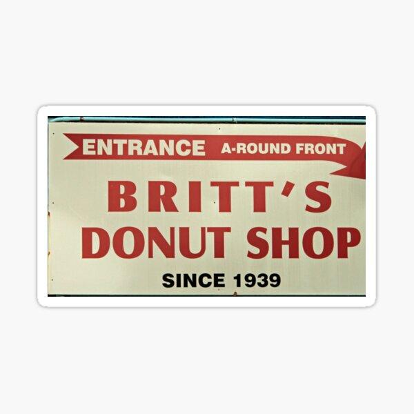 Britts Famous Doughnuts Sticker