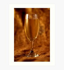 Still Life - Champagne & Gold Art Print
