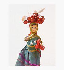 Doll Christmas ornament, little drummer girl Photographic Print