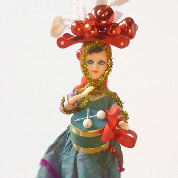 Doll Christmas ornament, little drummer girl by SusanSanford
