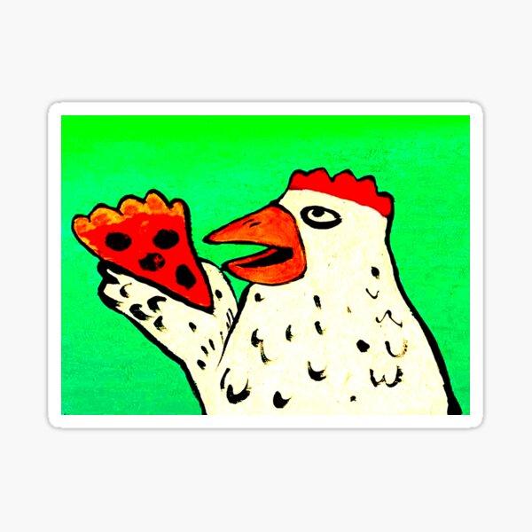 CHICKEN WITH PIZZA Sticker