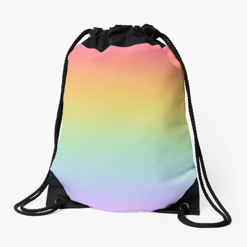 Pastel Rainbow Ombré  Drawstring Bag