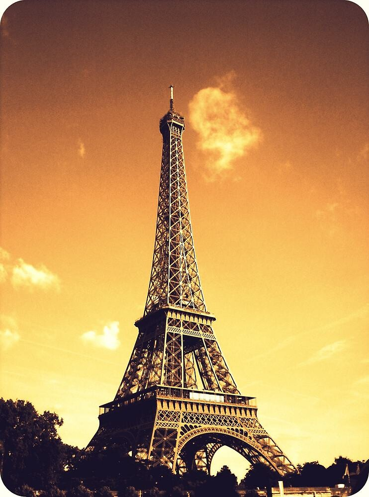 Eiffel Tower in Sepia by LaurelMuldowney