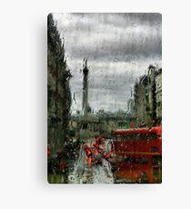 Rainy Days in London Photography Canvas Print