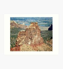 Colorful rocks at Colorado National Monument  Art Print