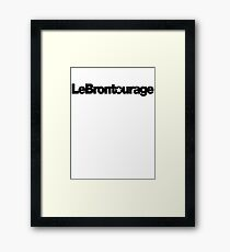 LeBrontourage│Black Framed Print