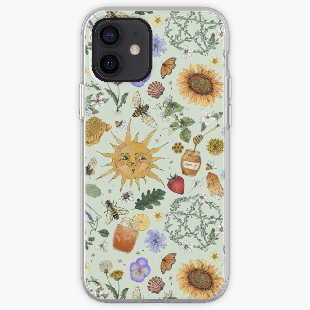 Litha Pattern- Green iPhone Case & Cover