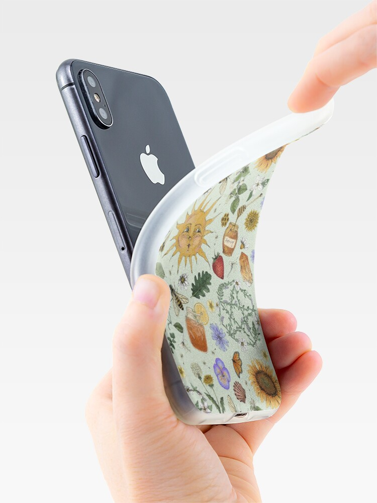 Alternate view of Litha Pattern- Green iPhone Case & Cover