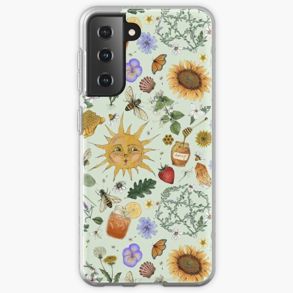 Litha Pattern- Green Samsung Galaxy Soft Case