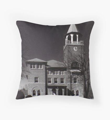 """""""Monkey Trial"""" Courthouse Throw Pillow"""
