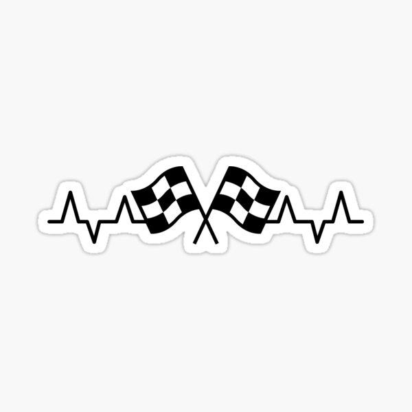 Racing Heartbeat Sticker