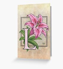 L is for Lily card Greeting Card