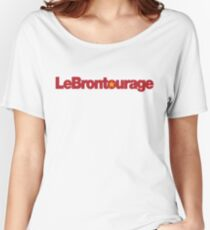 LeBrontourage│Red & Gold Women's Relaxed Fit T-Shirt