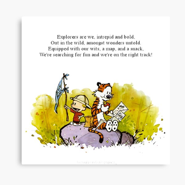 calvin and hobbes 127 Canvas Print