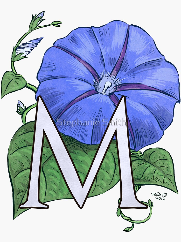 M is for Morning Glory - full image shirt by stephsmith