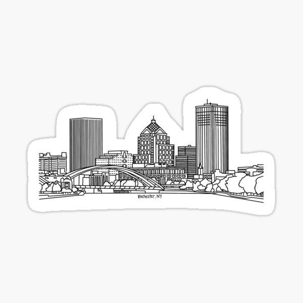 Rochester, New York Skyline Sticker