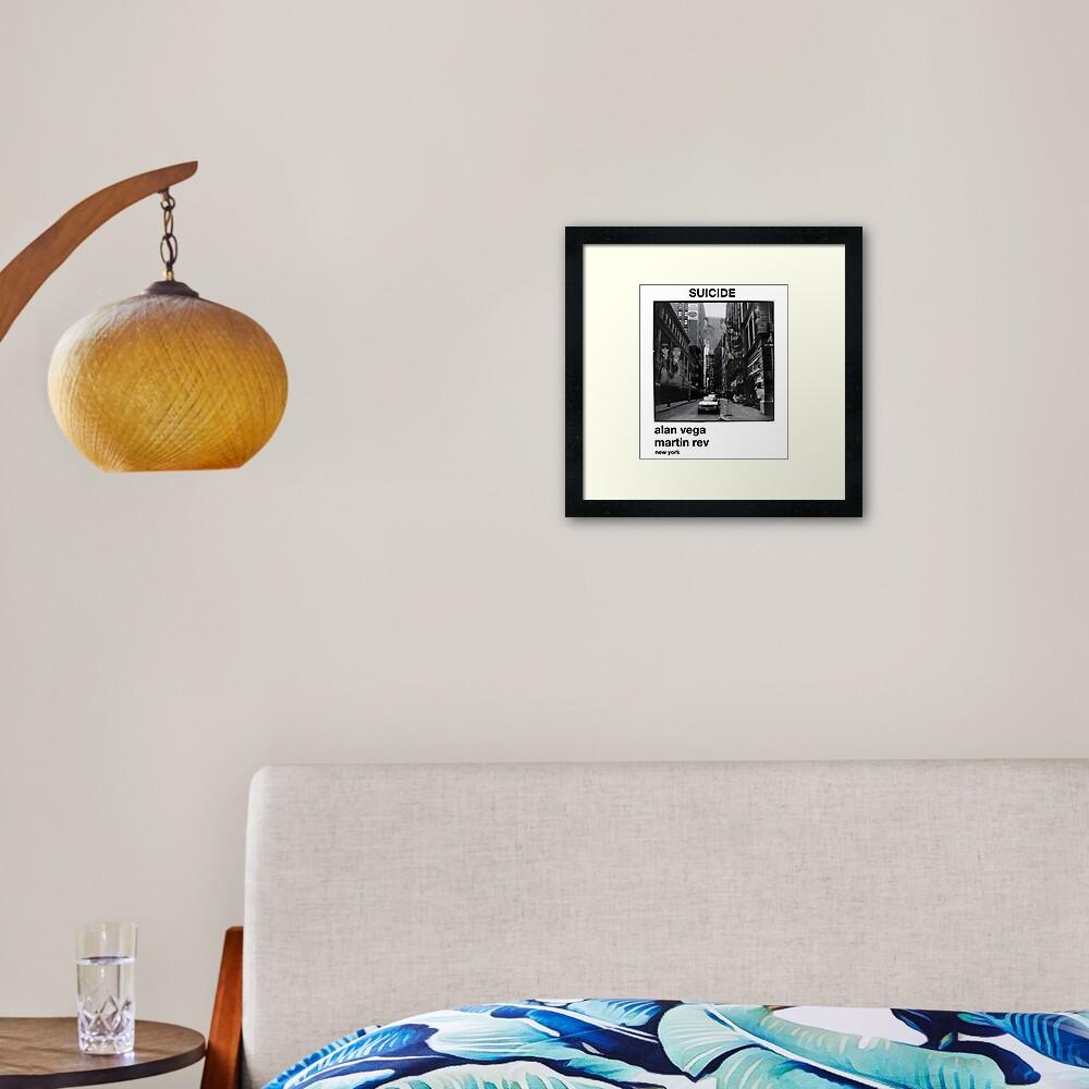 Suicide, New York Framed Art Print