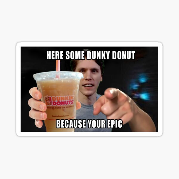 Dunky Donut Sticker