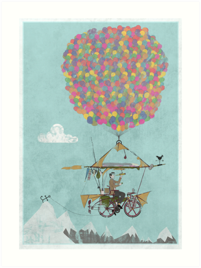 Riding A Bicycle Through The Mountains by Andy Scullion