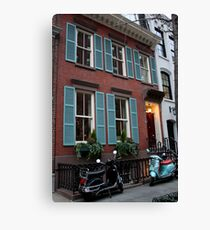 Vespas in Greenwich Village Canvas Print